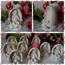 Free shipping Baby Angel in Egg Figure Resin toy vivid lifelike cake home office car decoration Baby Shower party supply gifts