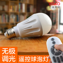Intelligent Remote LED bulb 2.4G stepless dimming adjust the color temperature LED bulb color ball bulb(China (Mainland))