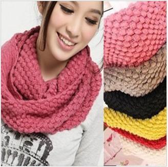 Anillo de lana islandia OMHWJ49 otoño e invierno gruesa bufanda del hilado del silenciador de la bufanda femenina 120g envío Gra.