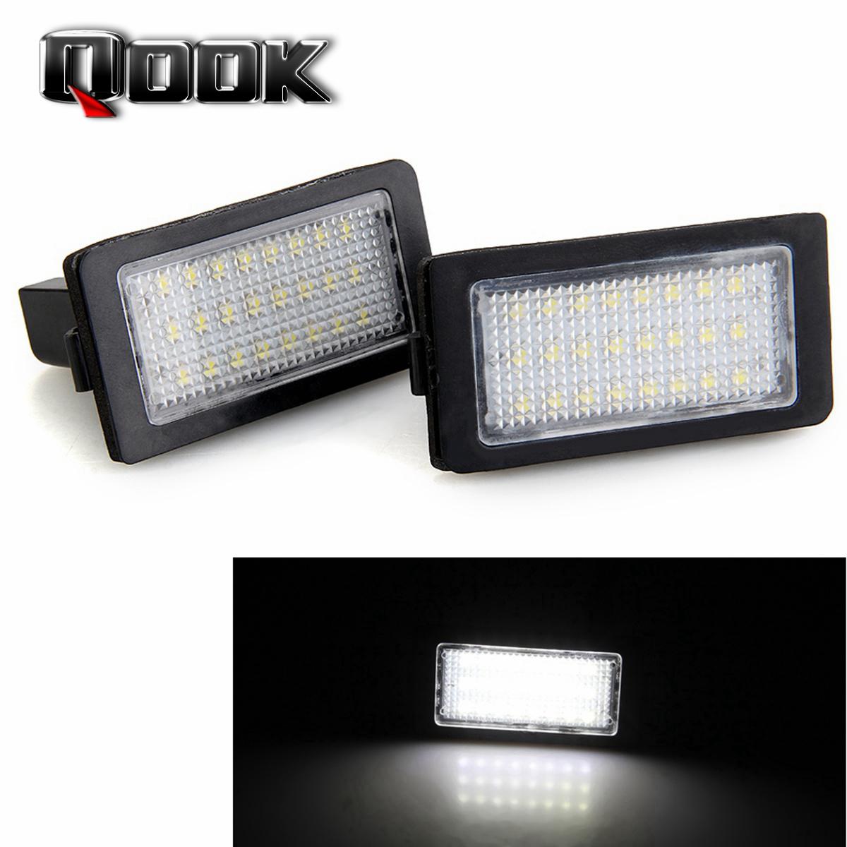 Qook 2piece 24 LED 3528 SMD DC 12V License Plate Light Lamp White for BMW E38(China (Mainland))