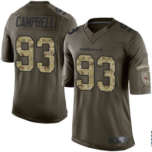 Men's #93 Calais Campbell Elite Green Salute to Service Football Football Jersey 100% stitched(China (Mainland))