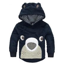 High quality Jacket For boys Girls Jackets Coats Kids Baby Girls Wool Coat Hooded sweatshirts Children Outerwear clothing ZBF409(China (Mainland))