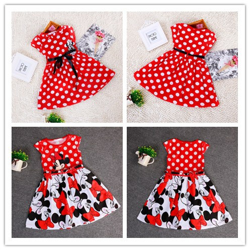 2014 new children's clothing minnie dot kids dress tutu princess children dress casual girls dress(China (Mainland))