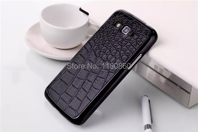 Luxury Black Crocodile Pattern Case Cover for Samsung Galaxy Grand 2 cases G7105 G7106 cases ,Mobile Phone Cases Free Shipping(China (Mainland))