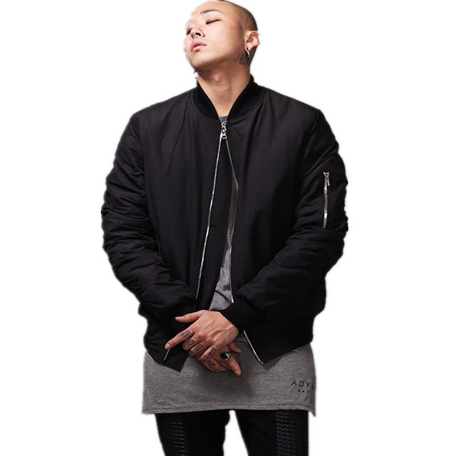 Plain Bomber Jacket - JacketIn