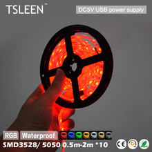 Buy +Flash Sale+ 10Pcs/Lot SMD3528 5050 RGB 5V USB LED Strip Light 0.5m 1m 2m Flexible Strip TV Background Lighting Waterproof # for $17.11 in AliExpress store