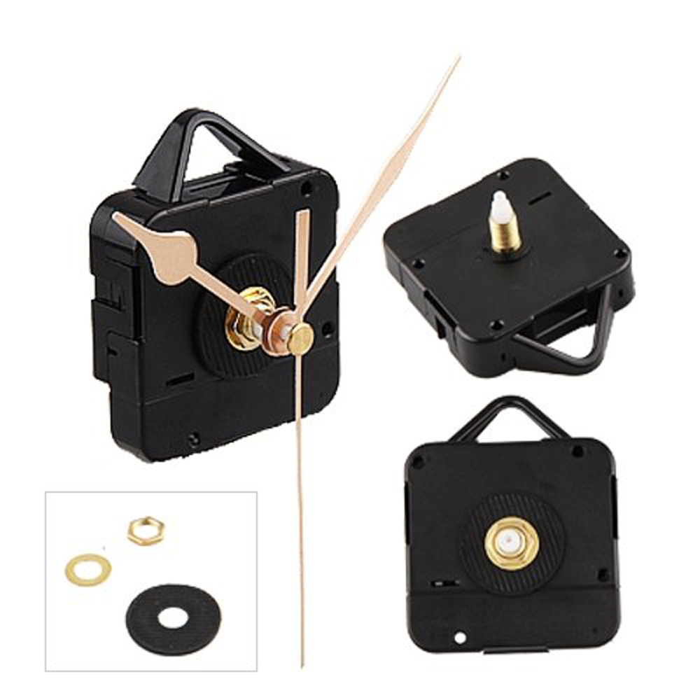 NEW,Quartz Clock Movement Mechanism Gold Hands DIY Repair Parts Kit(China (Mainland))