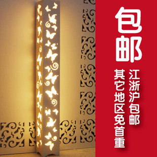 2014 new arrival limited white modern 1.2 meters faux energy saving antique carved floor lamp(China (Mainland))