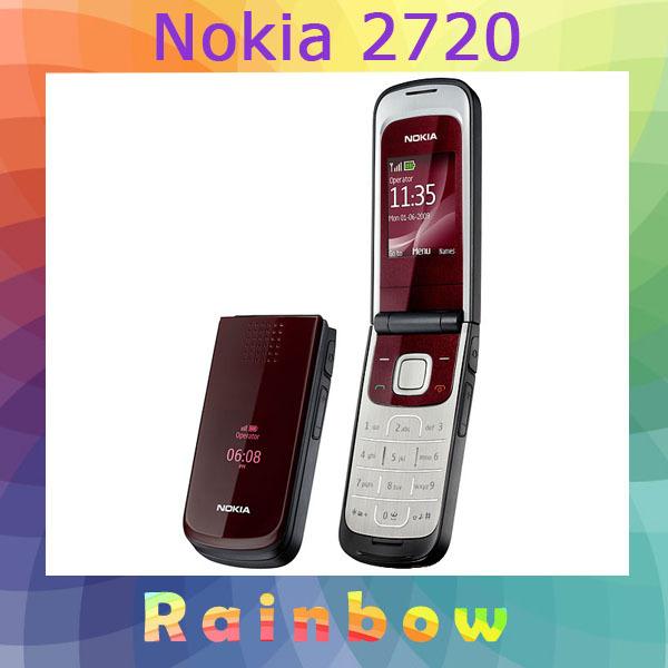 Original Nokia 2720 Unlocked Mobile Phone Bluetooth Java Free Shipping Refurbished(China (Mainland))
