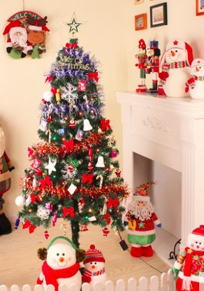 Vera's Home 1.5 m Christmas tree lights Package Christmas decorations including luxury Goodies(China (Mainland))