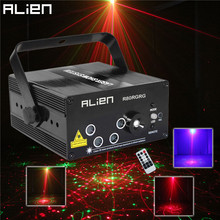 Alien LED Laser Stage Lighting 5 Lens 80 Patterns RG Mini Laser Projector 3W Blue Light Effect Show For DJ Disco Party Lights(China (Mainland))