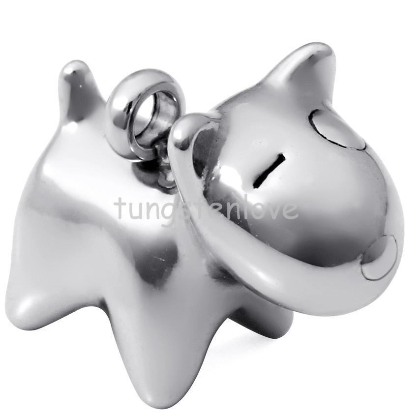 New Polished Stainless Steel Fashion A beloved Pet Dog Puppy Pendant Animal Necklace Bead Chain(China (Mainland))