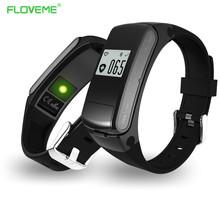 Original Floveme Men Smart Band Wristbands Bracelet Bluetooth Watch Earphone Smartband Pedometer Sleep Monitor for Andriod IOS(China (Mainland))