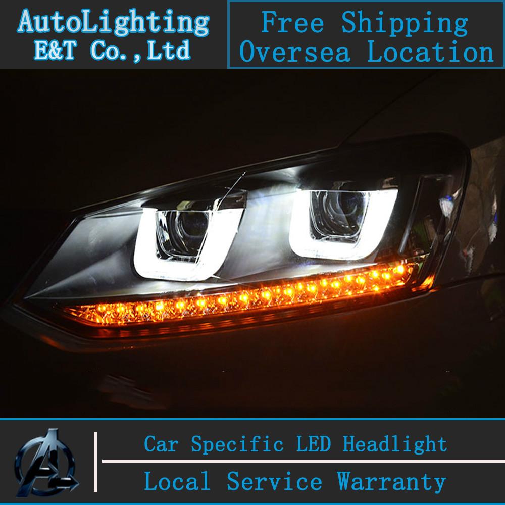 Car Styling VW POLO headlights Volks Wagen POLO GTI LED Headlight Automobile angel eye led drl H7 hid Bi-Xenon Lens low beam<br><br>Aliexpress