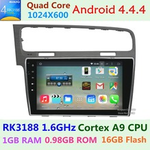 1024X600 10.1 Inch For Volkswagen VW Golf 7 MK7 VII 2013 2014 2015 Car DVD Player Quad Core Android 4.4.4 Radio GPS Navigation(China (Mainland))