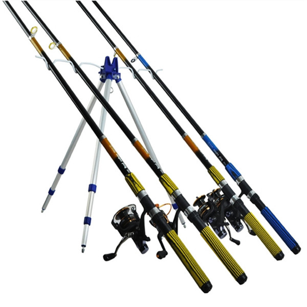 Outdoor sports aluminum alloy portable telescopic fishing for Beach fishing rod holder