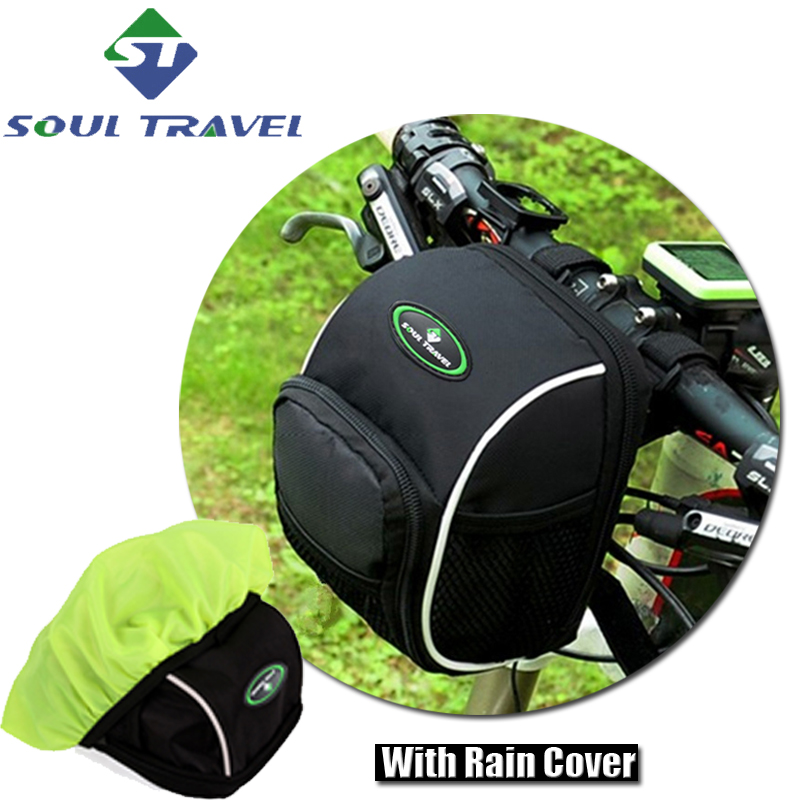 Soul Travel Bicycle Handlebar Front Bag Nylon Rainproof Mountain Bike Accessories Rain Cover Bags Case Tail Waist Pack Hot New(China (Mainland))