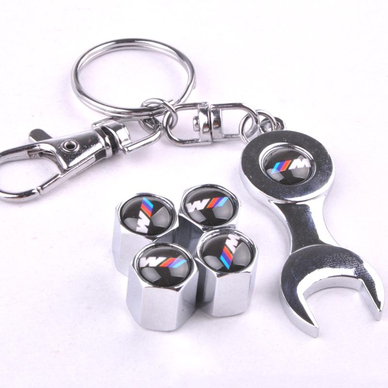 Гаджет  New Hot Sale Red W MPower Car Wheel Tire Valve Caps with Mini Wrench & Keychain (4-Piece/Pack) For BMW None Автомобили и Мотоциклы
