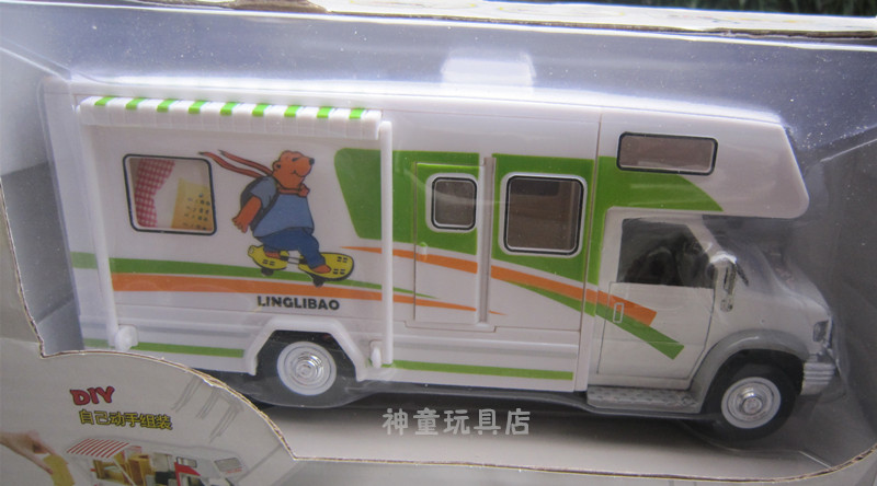 Rv travel tourist bus alloy car model toy luxury bus(China (Mainland))