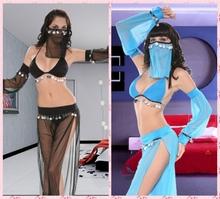 2015 New Sexy Exotic Apparel Womens GENIE Jasmine Aladdin Princess Costume Fancy Dress Arabian Belly Dancer Dress