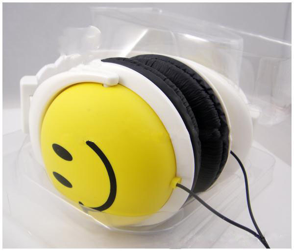 New Factory explosion models New Cartoon Smiley Headset Big Stars Headset Computer Headset fone de ouvido earphone auriculares(China (Mainland))