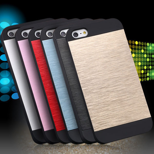 SE 5s 4s Aluminum Case Deluxe Metal Brush Back Cover Iphone 5 5g 4 4g Hard Slim Protective Cell Phone Skin - RCD Group Co., Ltd store