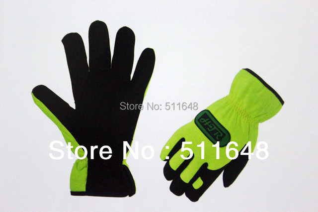 Model 0393 Mechanical Gloves Synthetic Microfiber with good abrasion-resistant EN388 certificate free shipping