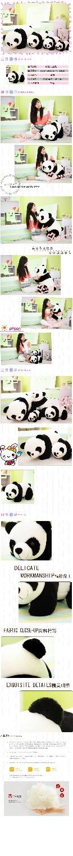 Papa Bear plush toy doll panda giant panda bear hug doll simulation doll girl child(China (Mainland))
