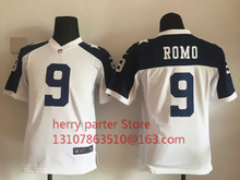 100% stitched youth Dallas Cowboys children 11 Cole Beasley 50 Sean Lee Embroidery Logos size S to XL(China (Mainland))