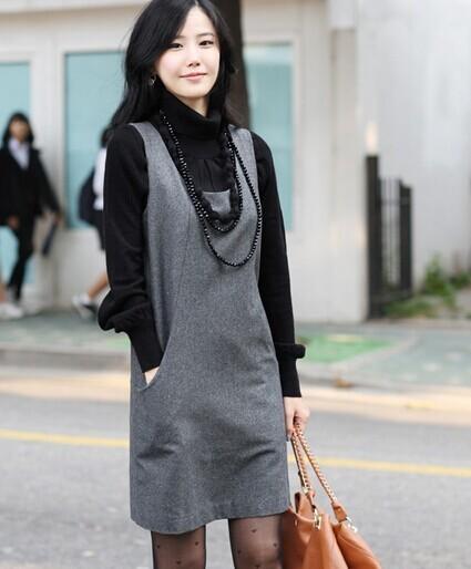 Зимние женские осенние шерстяной свитер платье плюс размер шерстяные цельный танк платье xxxl женщин повседневный леди офис платье sy2347