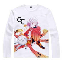 Guilty Crown T-shirts kawaii Japanese Anime t-shirt Manga Shirt Cute Cartoon Shu Ouma Inori Cosplay shirts 40573114919 tee 626