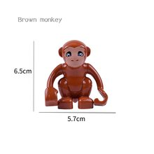 Animal Series Model Figures Big Building Blocks Animals Educational Toys For Kids Children Gift Compatible With Legoed Duploed(China)