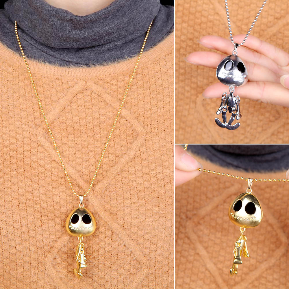 collares mujer Generous Eyes UFO alien Skull Skeleton Necklace For Women necklaces collier steampunk Accessories Men Necklace(China (Mainland))