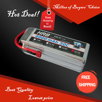 Free Shipping HRB Wholesale Price 22.2V 6000mah 50C Max 60C Toys & Hobbies For Helicopters RC Models Li-polymer Battery