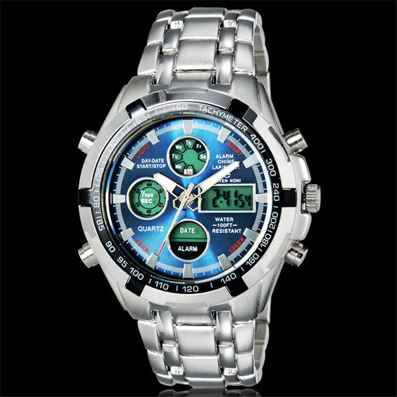 Quartz Watches men relogios masculinos 2014 alarm army clock led light military digital casual watches top brand luxury watch<br><br>Aliexpress