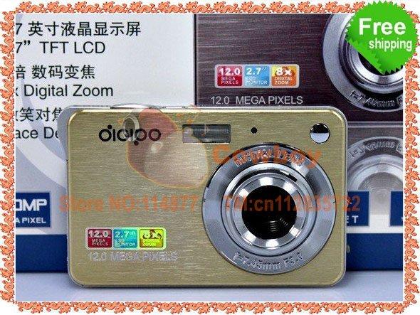 "Free Shipping 12MP 2.7"" LTPS Screen Anti-shake Face tracking DC-K09 Digital Camera(China (Mainland))"