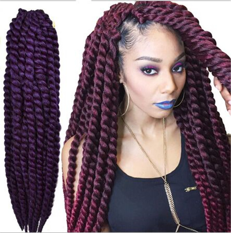 Crochet Braids Cuban Twist : havana Mambo twist braid,Synthetic Senegal Hair Crochet twist ...