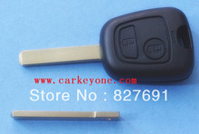 Guaranteed 100 2 button remote key shell case for Peugeot 307 car key blank