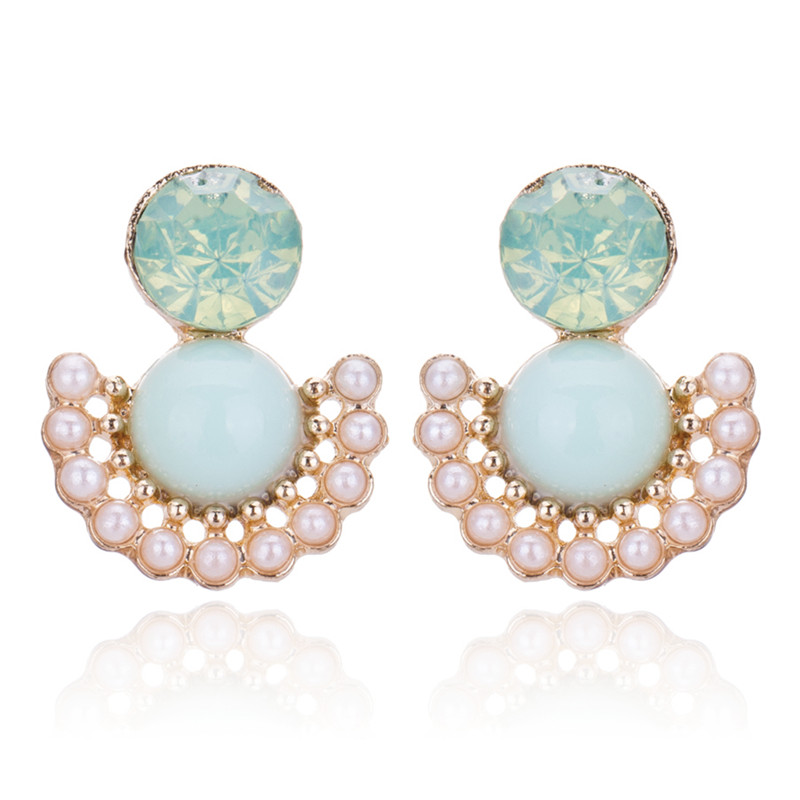 Fashion Crystal Stud Earrings Cute Korean Women Jewelry Boucle d'oreille BE201 - Q-Star Store (min order 1pc store)