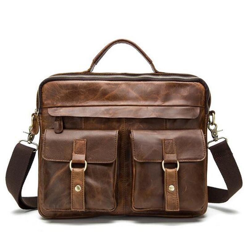 Crazy horse leather man bag retro leather handbag leather shoulder bag Messenger bag men selling foreign trade(China (Mainland))