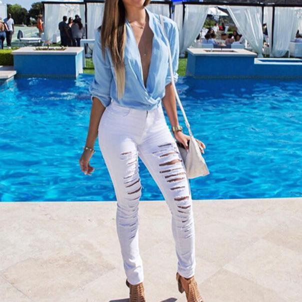 VOT7 vestitiy 2017 fashion Women High Waisted Skinny Denim Pants Slim Pencil Jeans Trousers JeansWomen Sep 8