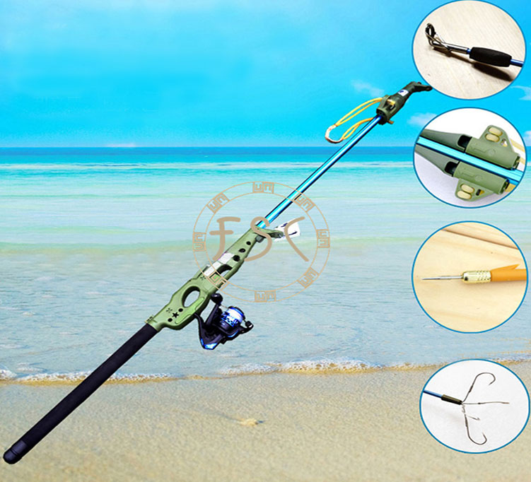 Online buy wholesale carbon pole spear from china carbon for Slingshot fishing pole