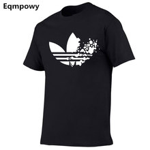 Хлопковая повседневная мужская футболка с принтом логотипа, модная мужская футболка с короткими рукавами, Мужская футболка Tshir, Мужская фут...(China)