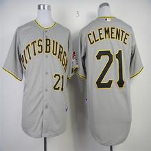 2016 мужская прошитой Pittsburghs Пират джерси дешевые 21 # роберто клементе джерси возврат бейсбол джерси верхнего качества