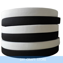 20MM White/Black Colored Soft Knit Braided Elastic Webbing Band For Sewing Garment Accessories 38 Meters(China (Mainland))