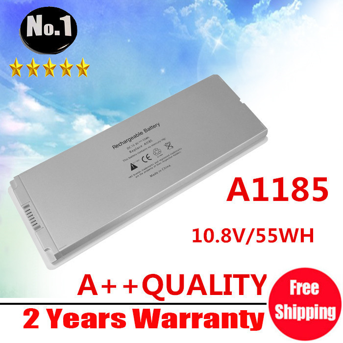 "Wholesale New White 55Wh laptop Battery for Apple MacBook 13"" A1185 A1181 MA561 MA561FE/A MA561G/A MA254, Free Shipping(China (Mainland))"