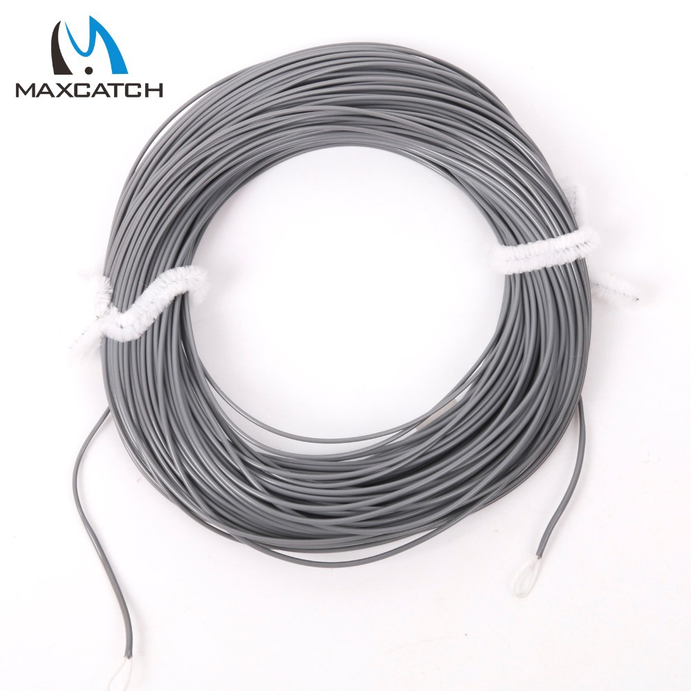 Maxcatch Weight Forward Sinking Fly Fishing Line 100FT WF4S,5S,6S,8S Dark Grey Sinking Fly Line(China (Mainland))