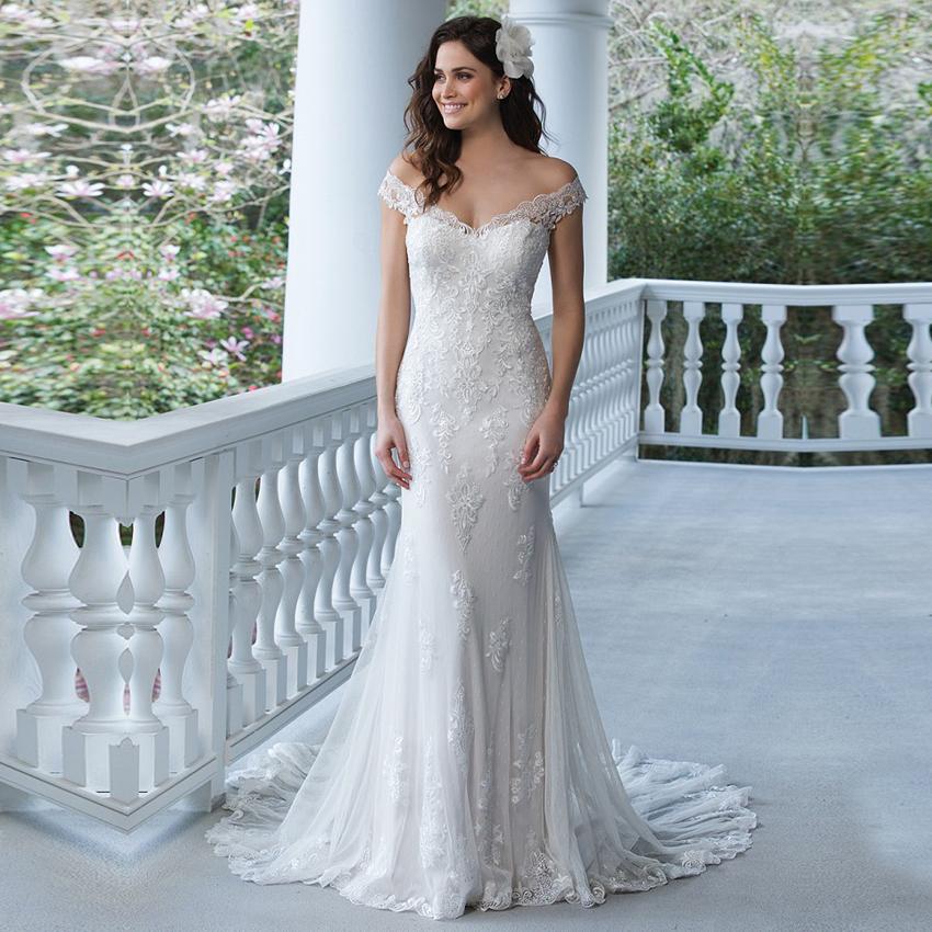 Vestido de noiva See Back Mermaid Lace Wedding Dresses 2017 China Bridal Gowns Robe de Mariage Sexy Boho Wedding Dress