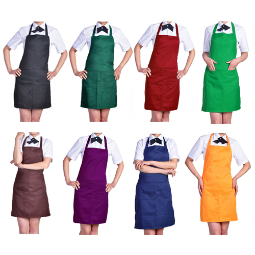 Women's Fashion Easy to Clean Apron with Front Pocket for Chefs Butchers Retail/Wholesale 92WM(China (Mainland))