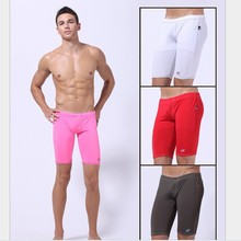 Free shipping 2014 New WJ Men's Half Pants Underpants  Sexy Sheer see Pouch Underwear 6colors S M L(China (Mainland))
